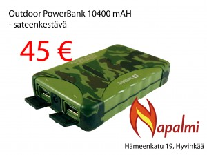 outdoor powerbank 10400mah