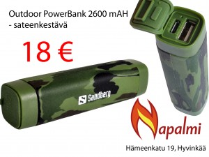 outdoor powerbank 2600mah