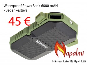 waterproof powerbank 6000mah