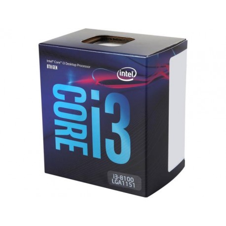 Intel Core i3 8100, 3.6GHz, 6MB Cache, LGA1151