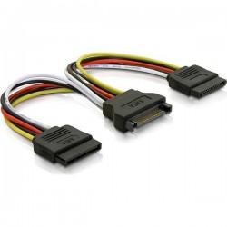 Y-virta adapteri 15-pin SATA-virtaan 2x kiintolevylle, 10cm