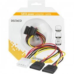 DELTACO Y-virtakaapeli 2xSerial ATA kiintolevyt.