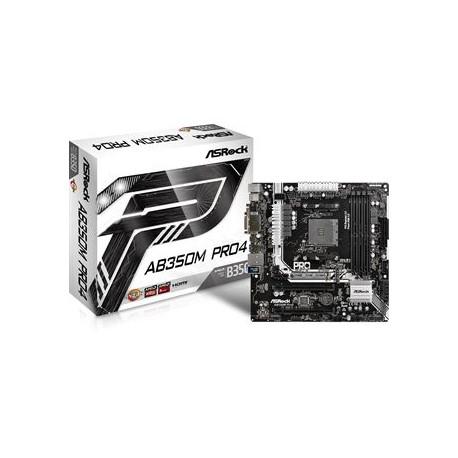 ASRock AB350M Pro4 AMD B350 So.AM4 Dual Channel DDR4 mATX Retail