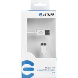 eSTUFF MicroUSB 3.0 Cable 1M