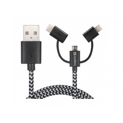 Sandberg 3in1  USB Sync and Charge Cable 1M