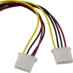 Deltaco Molex 4-pin splitter 0.25m