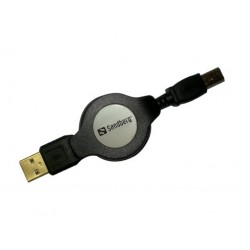 Sandberg Retractable USB 2.0 A-B 1.2m