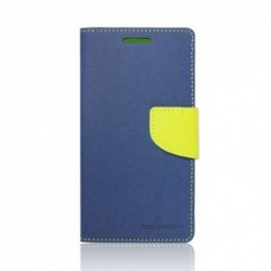 Xperia M4 Fancy Book Suojakuoret (Navy-Lime)