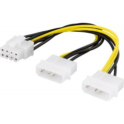 Adapterikaapeli 2xMolex 4-pin to 8-pin PCI-Express