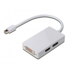 Digitus DisplayPort Y-splitter Cable miniDP(m) DP+HDMI+DVI(f) 0.2m