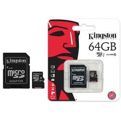 Kingston 64GB MicroSDXC-muistikortti, class 10, UHS-I